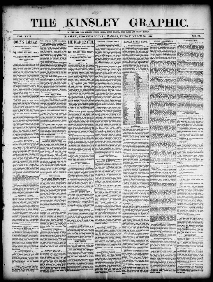 The Kinsley graphic (Kinsley, Kan ), 1894-03-30page1